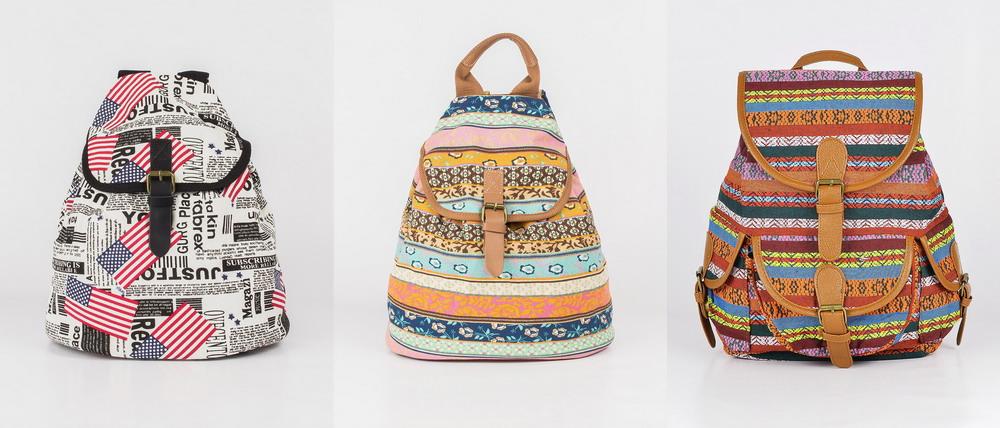 Женские тканевые рюкзаки рюкзаки городские женские спб