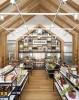 Дизайн интерьера магазина полезной еды в эко-стиле